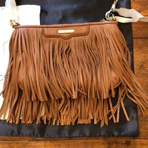 Almond fringe purse NWT